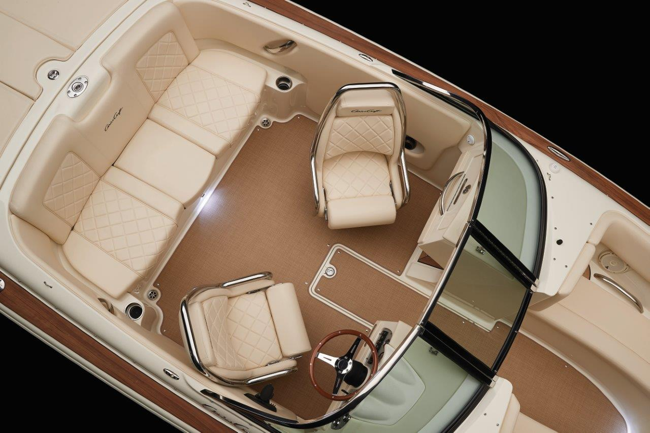 Chris Craft Launch 23 Captains Chair Overhead View