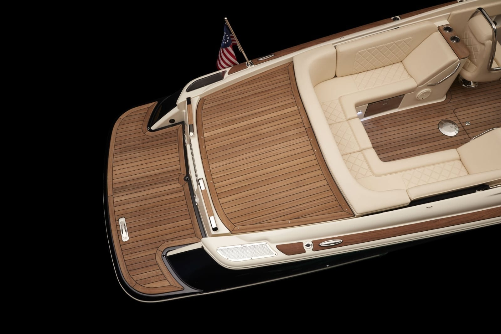 Chris Craft Corsair 27 Aft Swim Deck Overhead View