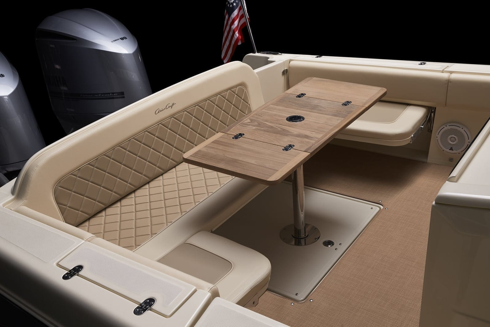 Chris Craft Catalina 34 Rear Table Unfolded