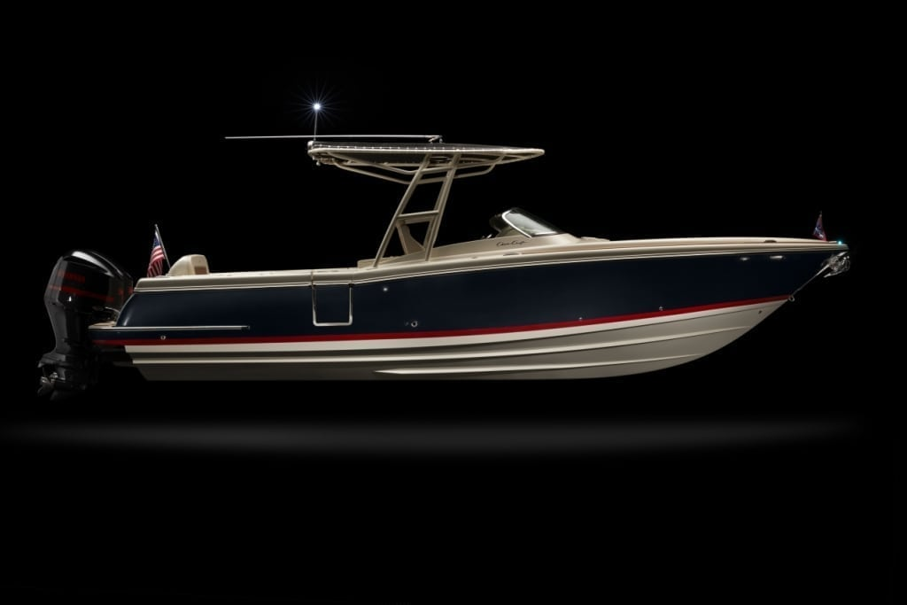 Chris Craft Calypso 30 Low Side Profile View
